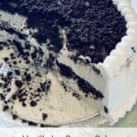 vanilla ice cream cake half