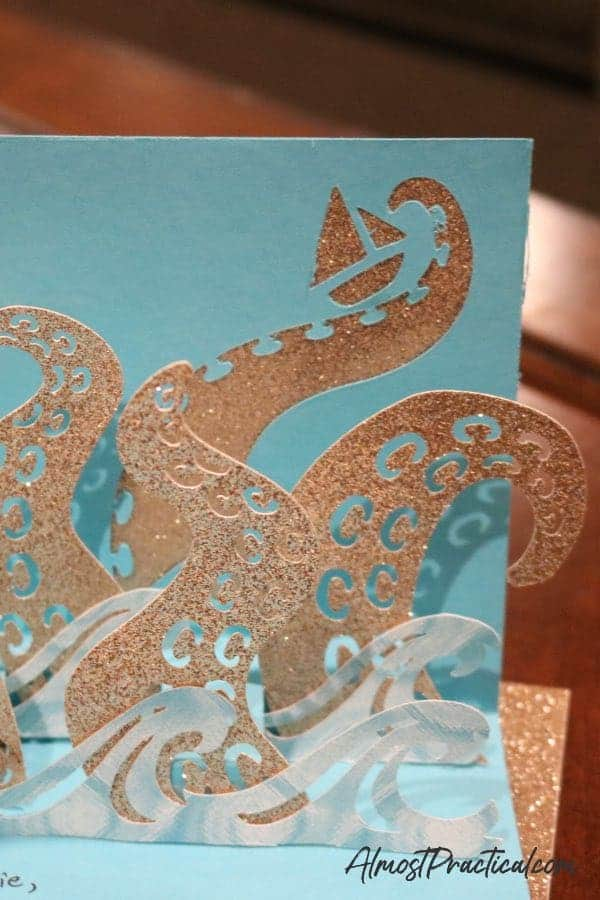 Cricut Octopus card