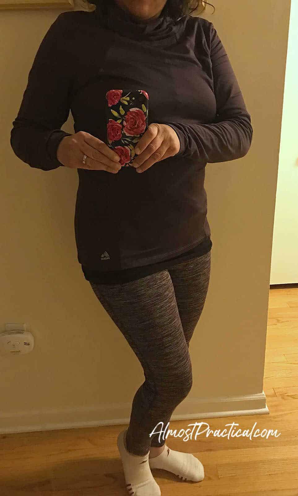 Winter athletic wardrobe - selfie